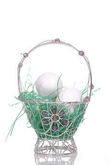 Free Easter Basket 3 Royalty Free Stock Photo - 2053955