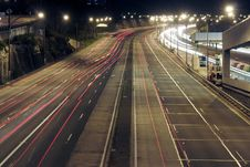 Free Highway At Night Royalty Free Stock Image - 2056106
