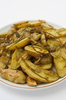 Free Potatoes Roasted Fingerling Royalty Free Stock Images - 2056509