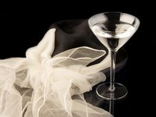Free Martini Glass With Hat Royalty Free Stock Image - 2056936