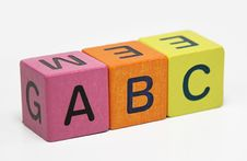 Abc Wooden Blocks Stock Image