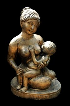 Free Mother And Child Sculpture Royalty Free Stock Photos - 2057478