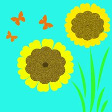 Free Sunflower Art Royalty Free Stock Images - 2057709