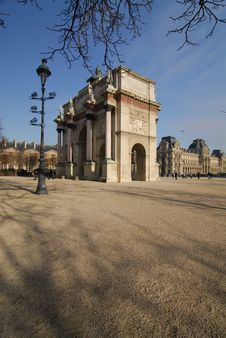 Free Small Arc Of  Triumph, Paris Stock Photography - 2059082