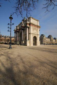 Free Small Arc Of  Triumph, Paris Stock Photography - 2059082