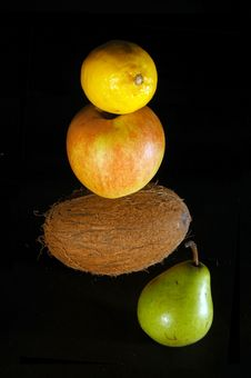 Fruits On Black Royalty Free Stock Image
