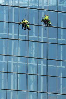 Free People Washing Window Stock Photos - 2059943