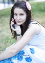 Free Woman Talking On The Phone Royalty Free Stock Image - 20500726