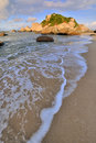 Free Sea Beach Rock Under Sunset Lighting Royalty Free Stock Image - 20508466