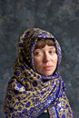 Free Sad Looking Woman Wrapped In Shawl Stock Image - 20509711