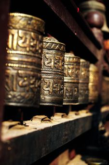 Free Prayer Wheel Royalty Free Stock Images - 20500039
