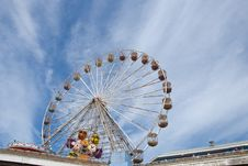 Free Fairground Wheel And Pier8 Royalty Free Stock Image - 20500386