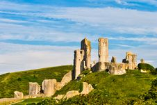 Free Ruins Of Corfe Castle Royalty Free Stock Photo - 20500445