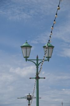 Free Old Lights On Victorian Pier Royalty Free Stock Images - 20500569