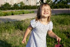 Free Portrait Of Little Girl Outdoors Royalty Free Stock Image - 20500826
