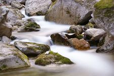 Free Flowing Stream Between The Rocks Royalty Free Stock Photography - 20501027