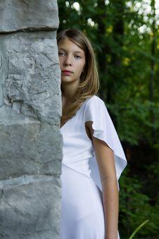 Free Girl Standing In Stone Doorway Stock Photos - 20501533