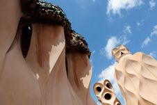 Free Gaudi Designed Apartment Building La Pedrera Stock Photo - 20501560