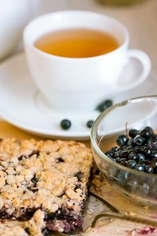 Free Breakfast With Blueberry Pie Stock Photos - 20501883
