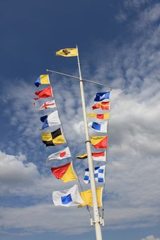 Free Maritime Flags Stock Photos - 20501953