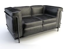 Free Black Sofa Royalty Free Stock Image - 20502286