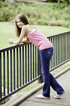 Free Teenage Female Girl Standing Smiling Stock Photos - 20502343