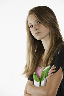 Free Teenage Female Girl On White Stock Photo - 20502370
