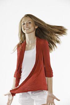 Free Teenage Female Girl On White Stock Photos - 20502413