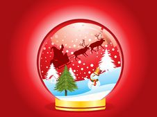 Free Abstract Christmas Globe  With Ice Man Royalty Free Stock Image - 20502476