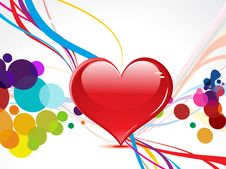 Free Abstract Coloful Heart With Wave Royalty Free Stock Photo - 20502735