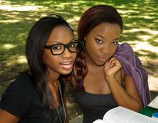 Free Two Lovely Girls In The Park Stock Photo - 20505080