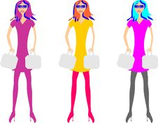 Free Three Girls With Bags Stock Photos - 20505113