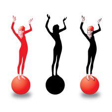 Free Girl On Ball Stock Photos - 20506243