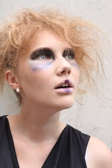 Free Expressive Woman With Art Make-up Royalty Free Stock Photos - 20506878