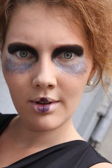 Free Expressive Woman With Art Make-up Stock Photo - 20506940