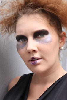 Free Expressive Woman With Art Make-up Stock Image - 20507081