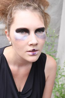 Free Expressive Woman With Art Make-up Stock Photography - 20507592