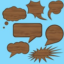 Free Wood Speech Stock Images - 20508304