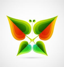 Free Vector Abstract Leaf Butterfly. Nature Concept Royalty Free Stock Photo - 20509355