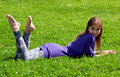 Free Girl Lying On Grass Royalty Free Stock Photo - 20510935