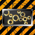 Free Metal Plate And Gears On Dirty Grunge Stock Images - 20513284