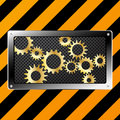 Free Metal Plate And Gears On Grunge Royalty Free Stock Images - 20513289