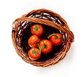 Free Tomatoes In The Rattan Basket Royalty Free Stock Photography - 20513407