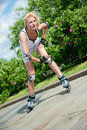 Free Girl Roller-skating In The Park Stock Photography - 20513852