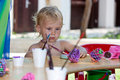 Free Beautiful Baby Girl Painting Royalty Free Stock Photos - 20517918