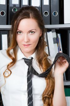 Free Sexy Girl With A Tie Stock Photo - 20510150