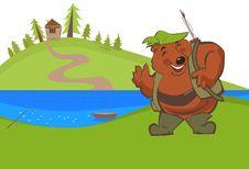 Free Bear On Fishing Royalty Free Stock Photography - 20511187