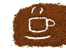 Coffee Grounds On  Spoon Stock Photos