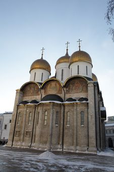 Uspenski Cathedral In The Moscow Kremlin Royalty Free Stock Images