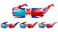 Free 3d Uk Glasses Stock Photography - 20511852